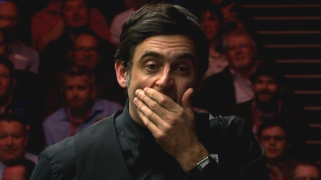 Ronnie O'Sullivan at the 2016 Masters final