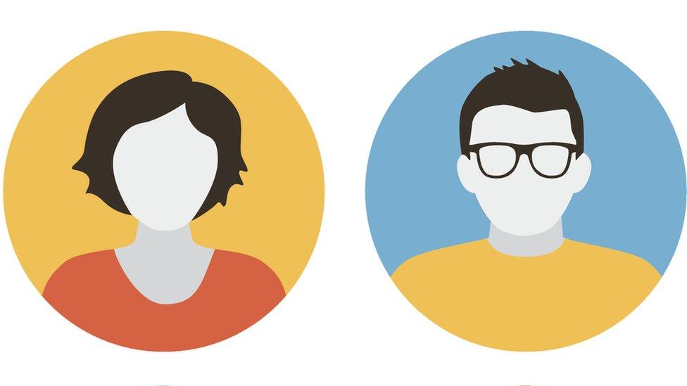 Dos ilustraciones con fotos de perfil