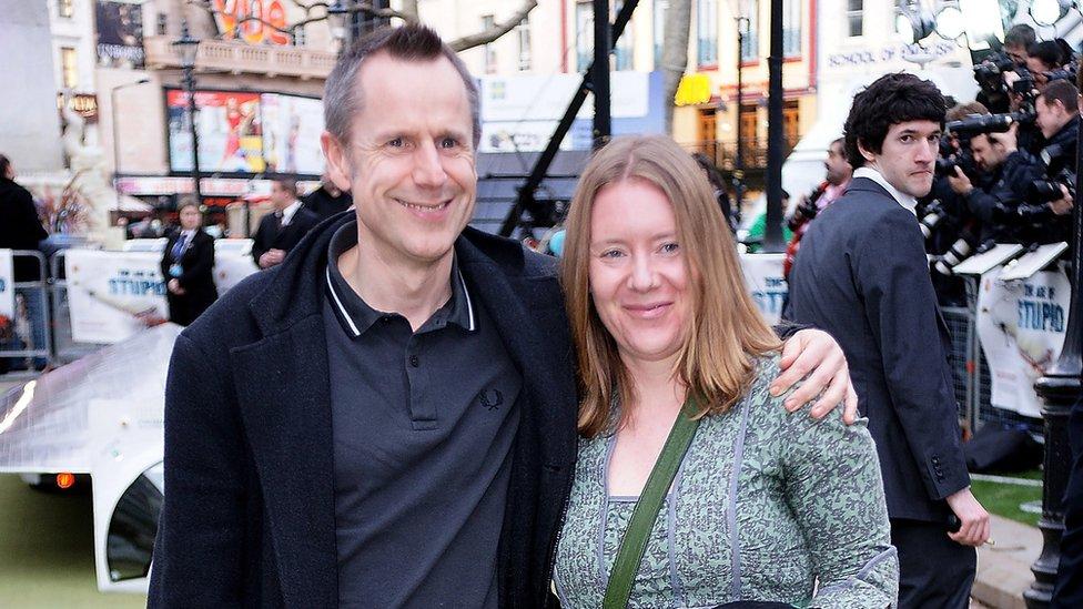 Jeremy Hardy with Katie Barlow in 2009