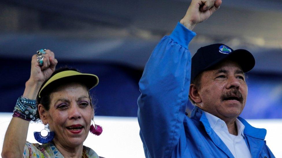 Rosario Murillo y Rafael Ortega