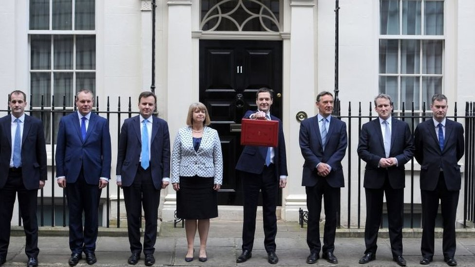 George Osborne and his Treasury team
