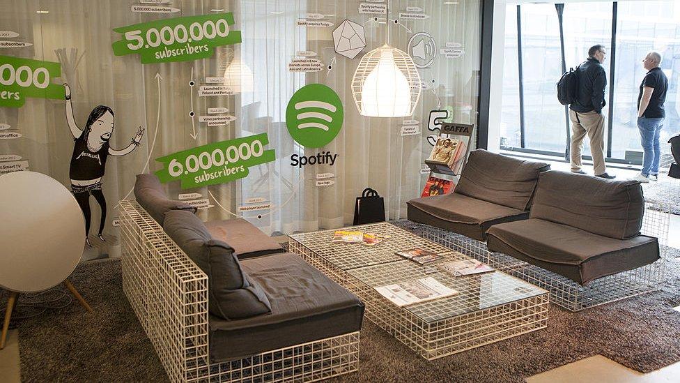 Oficina de Spotify en Estocolmo.