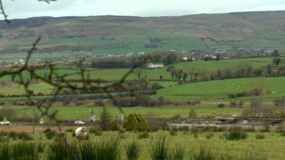 Hills near the Irish border