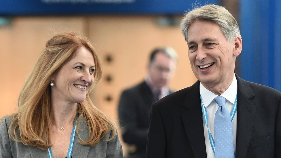 Philip Hammond and his wife Susan Williams Walker
