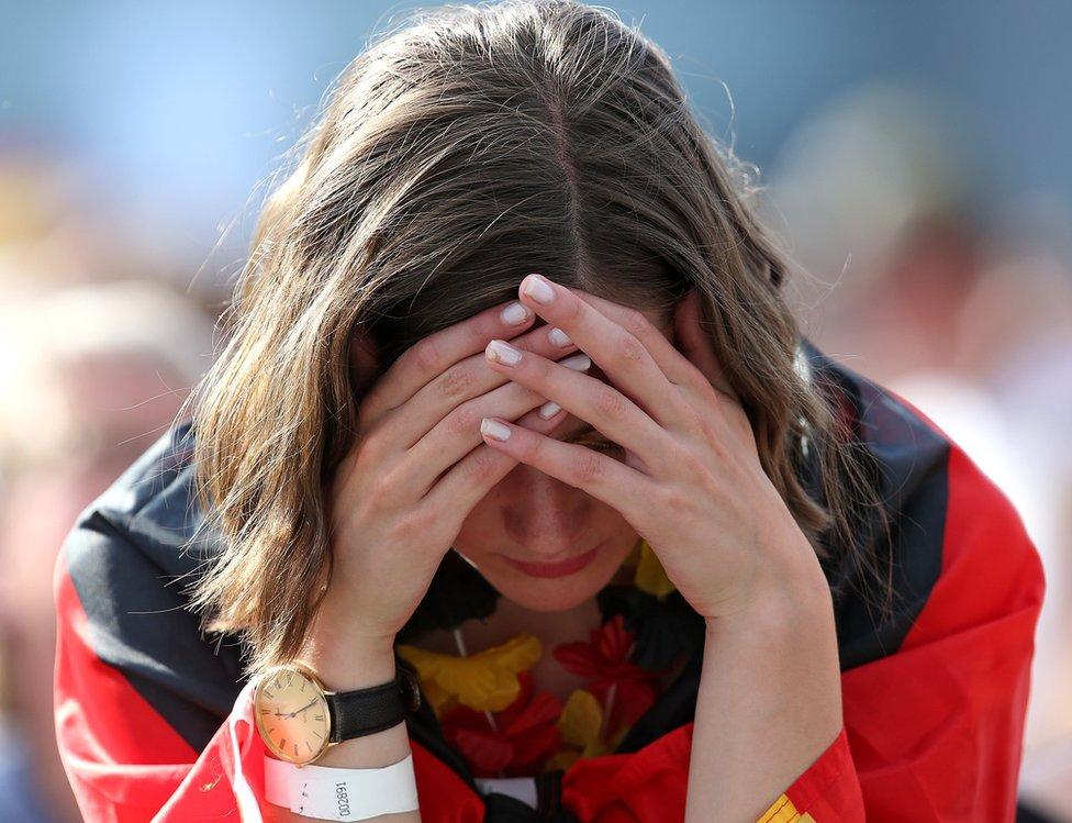 Alemana lamenta la derrota
