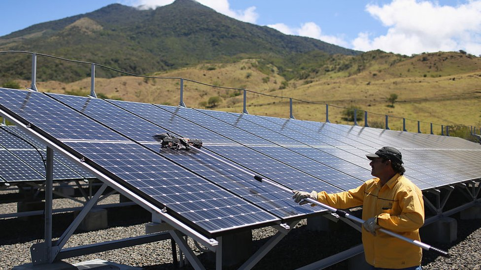 Panel solar Costa Rica.