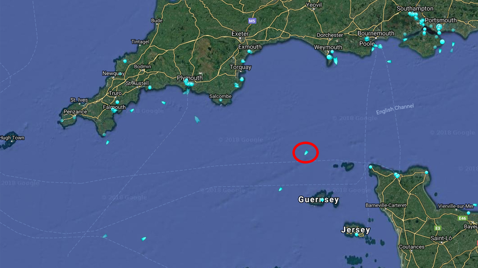 Location of the Geo Ocean III