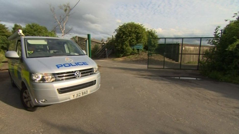 Police can outside a water treatment works