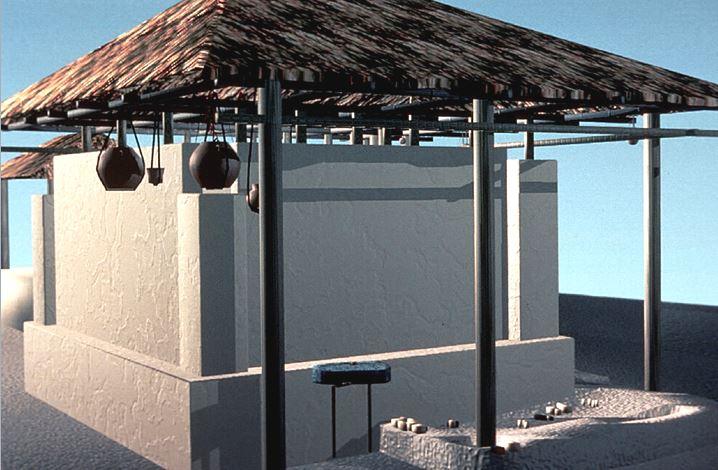 Reconstrucción digital de una casa.
