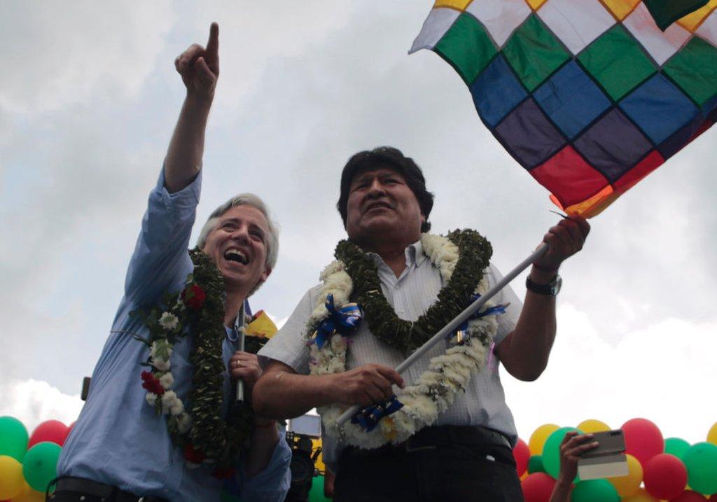 Alvaro García y Evo Morales