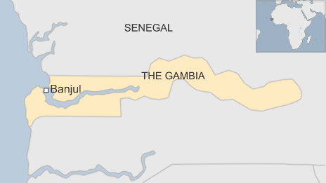 The Gambia map