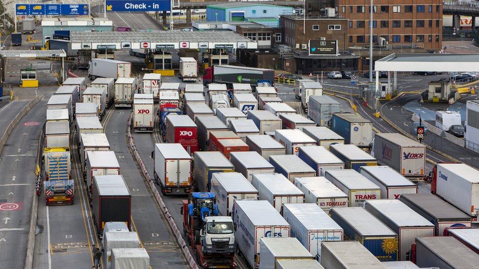 Lorry queue