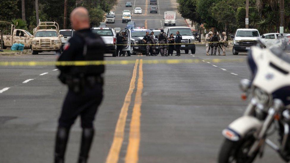 Escena de un crimen en Tijuana