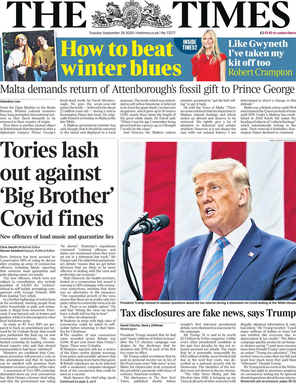 The Times 29 September