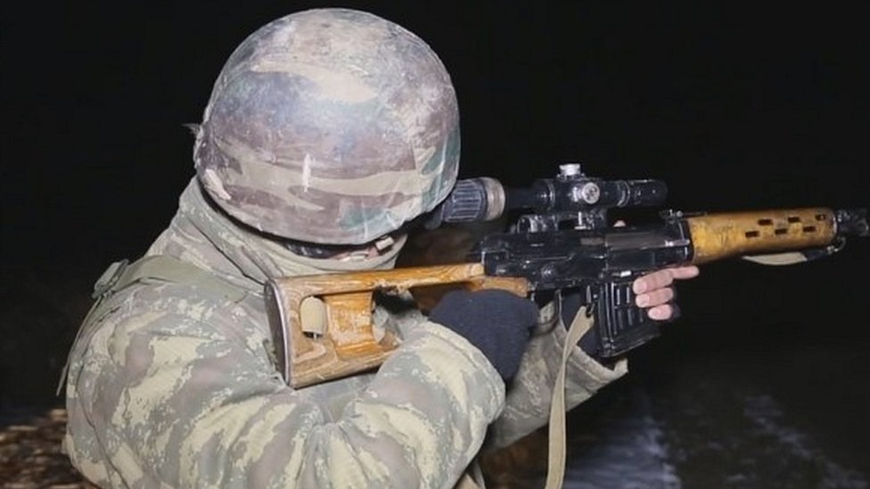 Azerbaijan government-issued image of soldier