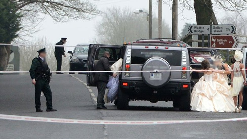 The shooting happened in the grounds of a Catholic church in Newtownbutler