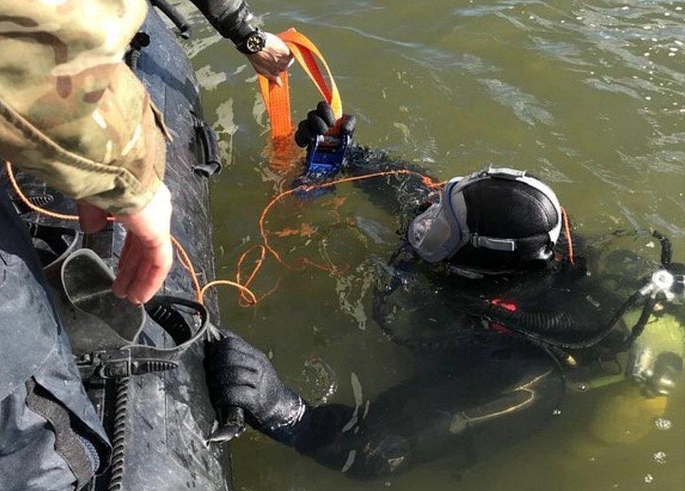 Bomb disposal diver