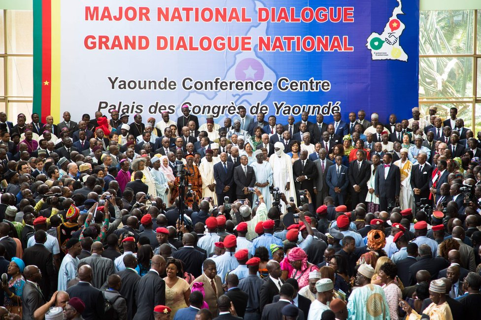 Large crowds at the opening session of the National Dialogue called by President Biya