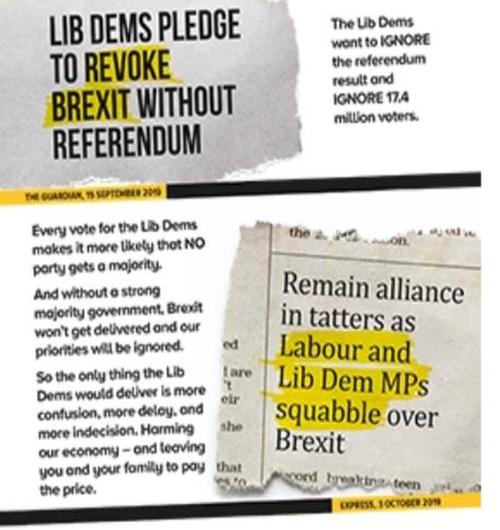 'Lib Dems pledge to revote Brexit without referendum'