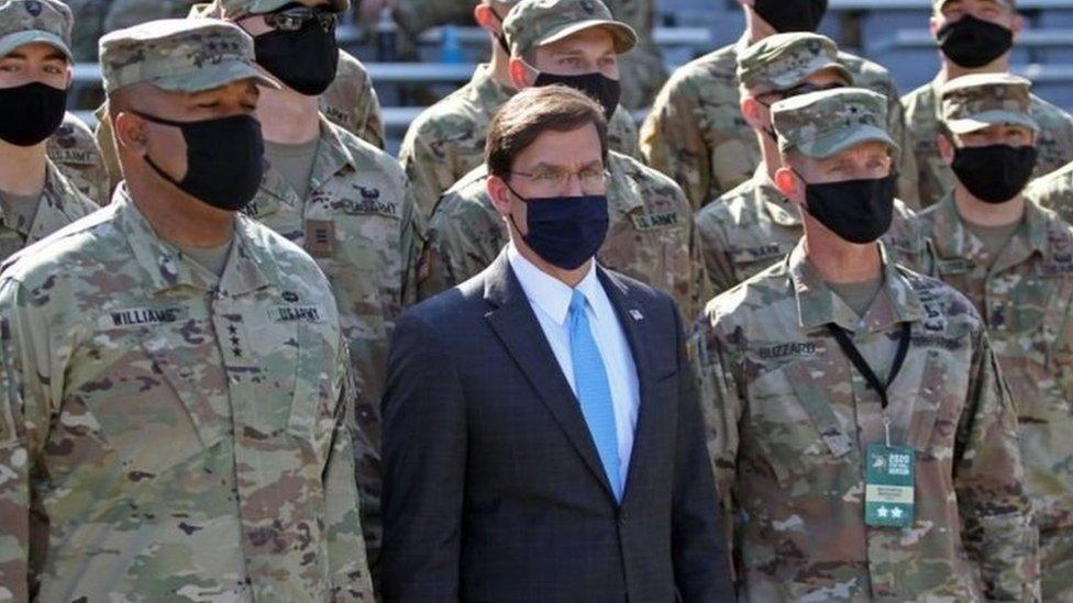 Menteri Pertahanan Mark Esper dalam pelantikan di West Point pada 10 Oktober lalu.