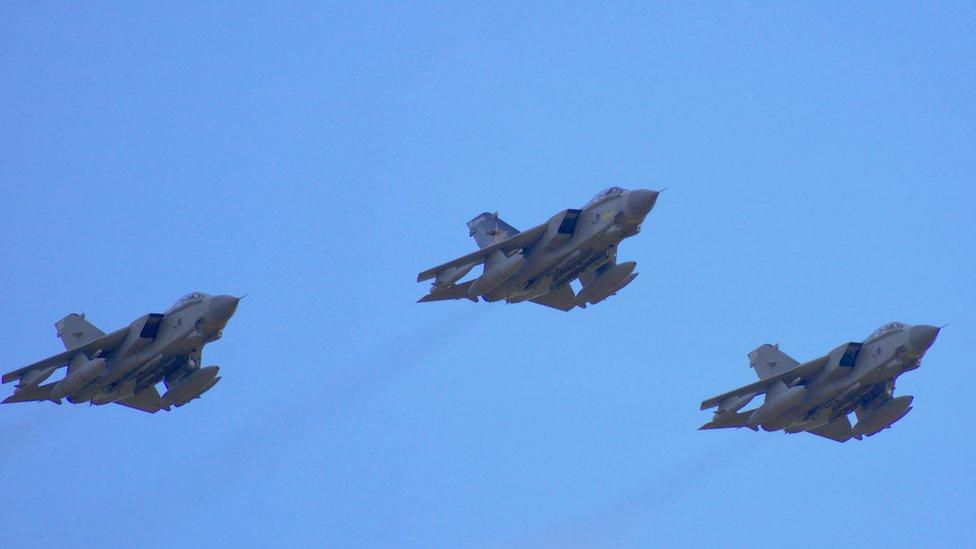 RAF Tornado flypast marks active service retirement