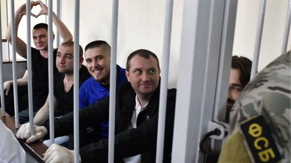 Ukrajinski mornari na suđenju