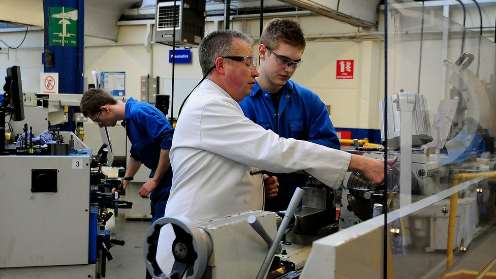 An apprentice during training at EEF Apprentices and Skills Centre, Birmingham