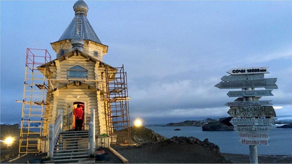 Ruska crkva na Antarktiku, gde se odigravaju klimatske promene
