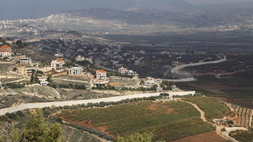 جانب من الحدود اللبنانية الإسرائيلية