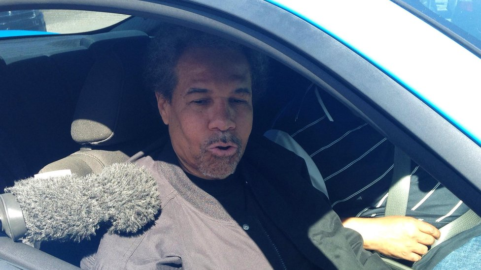 Albert Woodfox speaks with the media after being released from the West Feliciana Parish Jail in St Francisville, Louisiana, 19 February