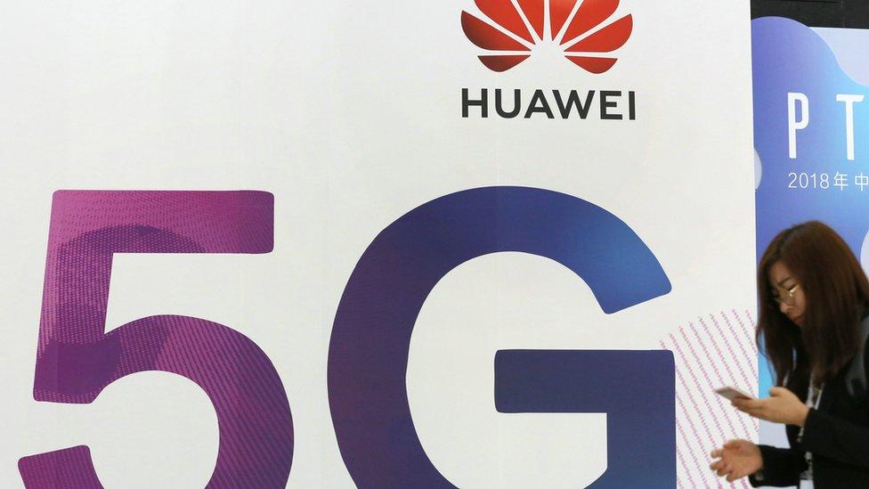 Cartel de 5G.