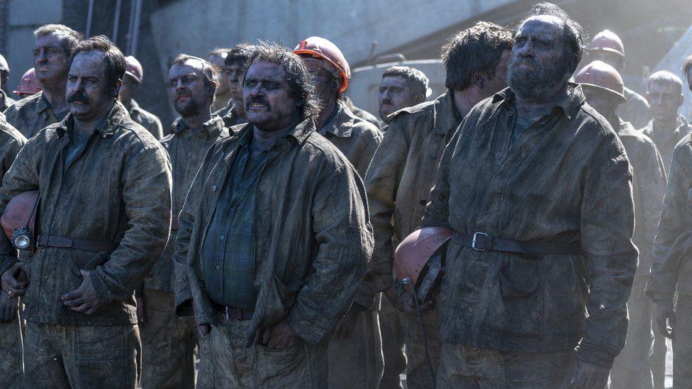 Escena de los mineros de Chérnobil