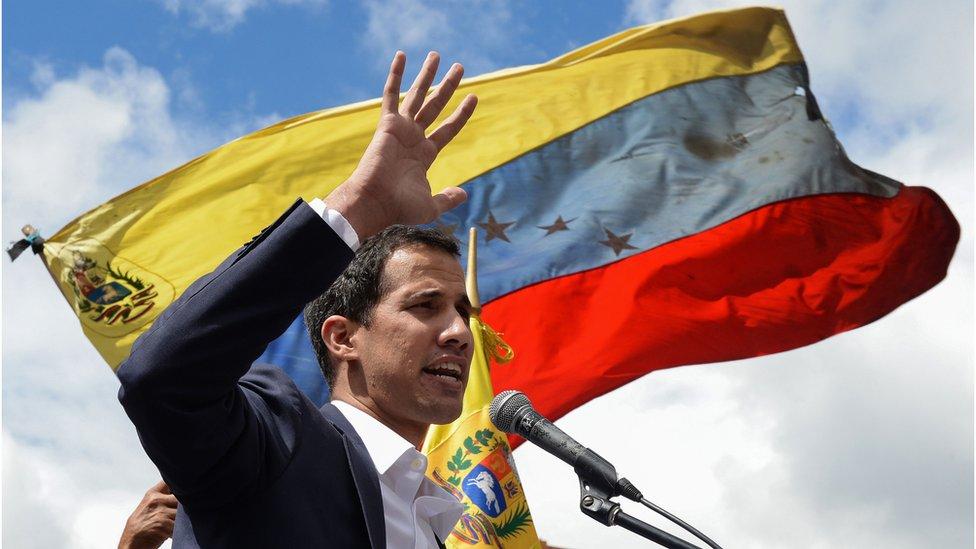 Juan Guaidó: US backs opposition as Venezuela president