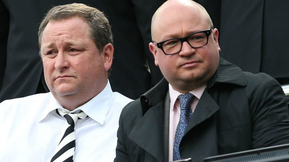 Mike Ashley (left), and Lee Charnley