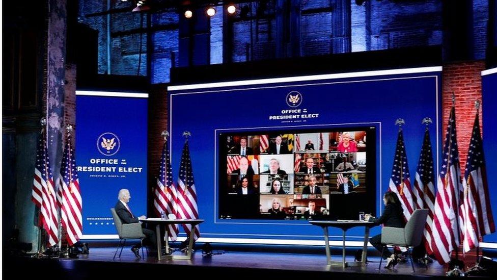 Una reunión virtual de Biden con gobernadores