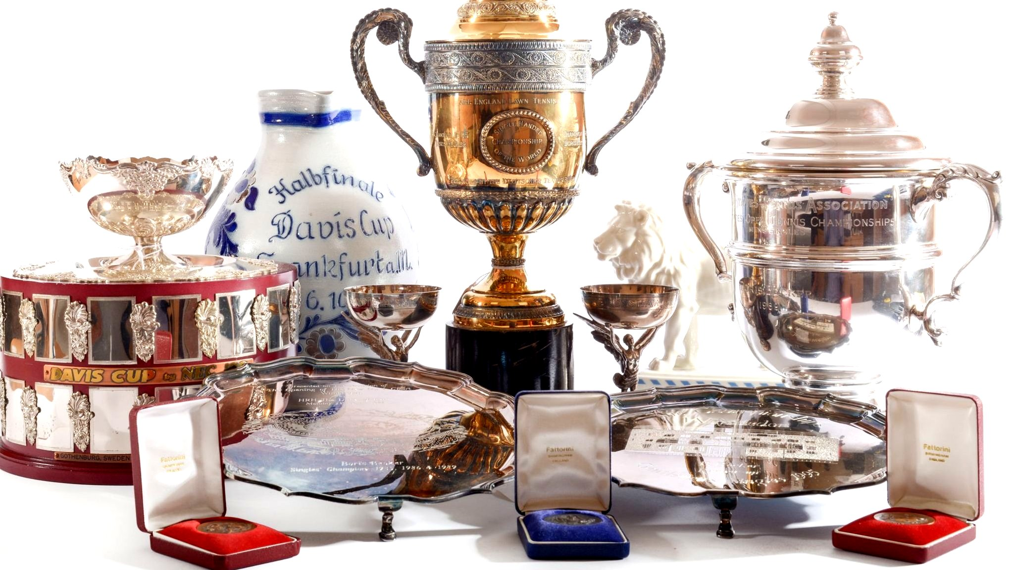 Becker trophies - and his socks - up for £200,000 at auction