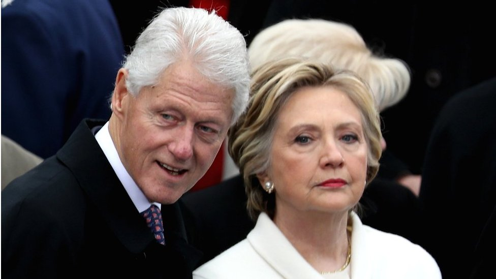 Former President Clinton and former Democratic presidential nominee Hillary Clinton