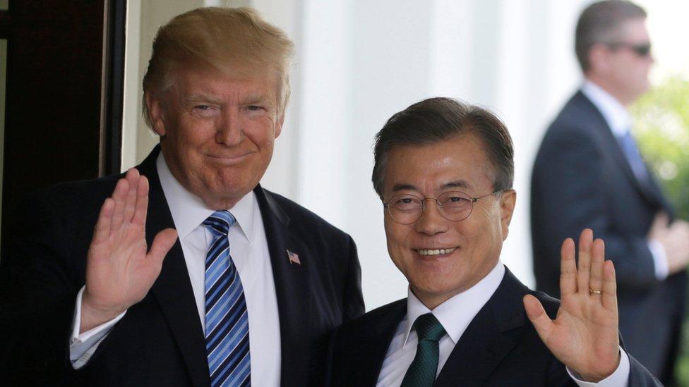 US President Donald Trump and South Korean President Moon Jae-in