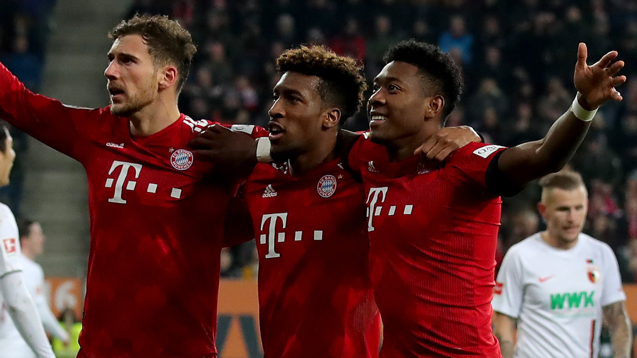 Augsburg 2-3 Bayern Munich: Kingsley Coman scores twice in comeback win