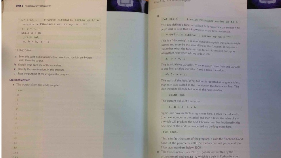Hodder text book problem example pages