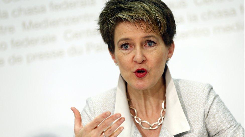Swiss Justice Minister Simonetta Sommaruga (file pic)