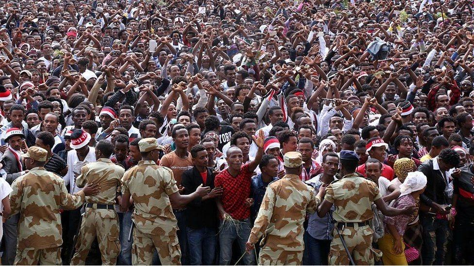 حشود إثيوبية