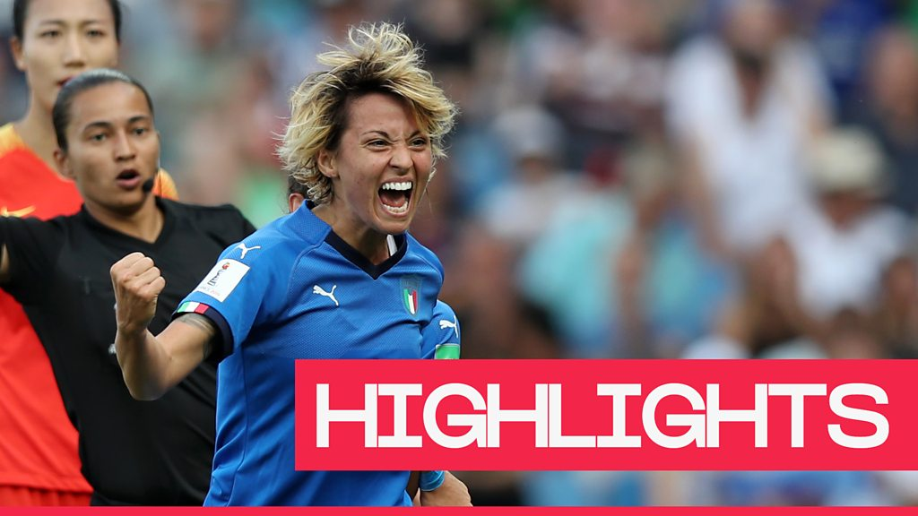 Women's World Cup 2019: Italy beat China 2-0 to seal quarter-final place