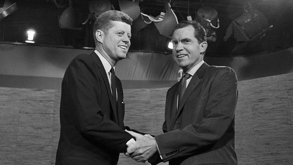جون إف كينيدي وريتشارد نيكسون