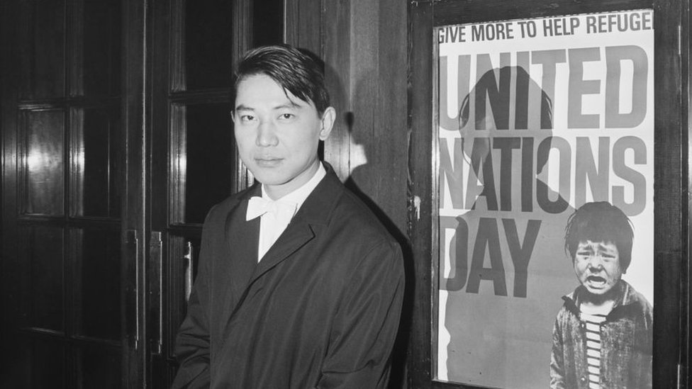 Fou Ts'ong pictured in London in 1966