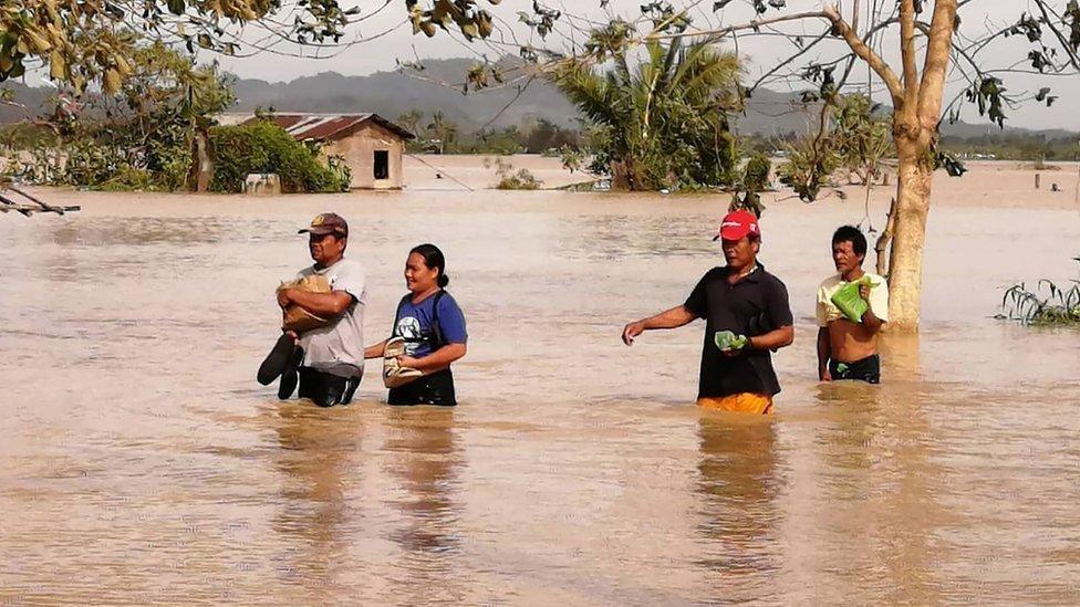 Inundaciones en la ciudad filipina de Ormoc.