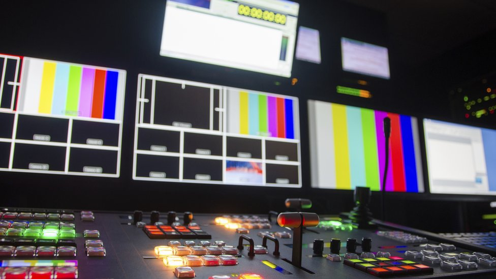 Picture of a television control room