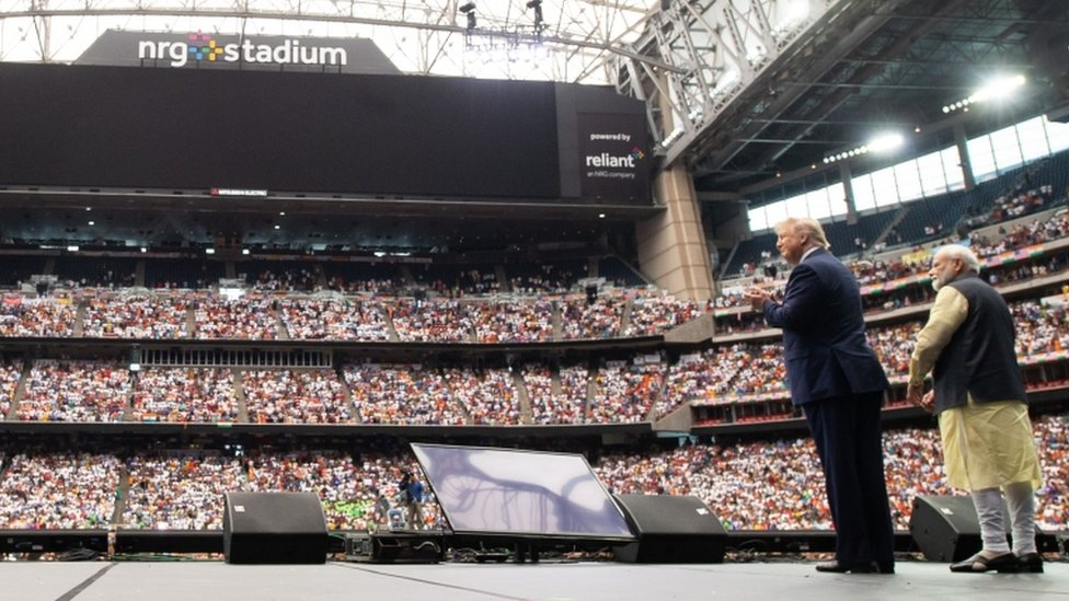 Narendra Modi said Donald Trump attend a mass rally in Texas