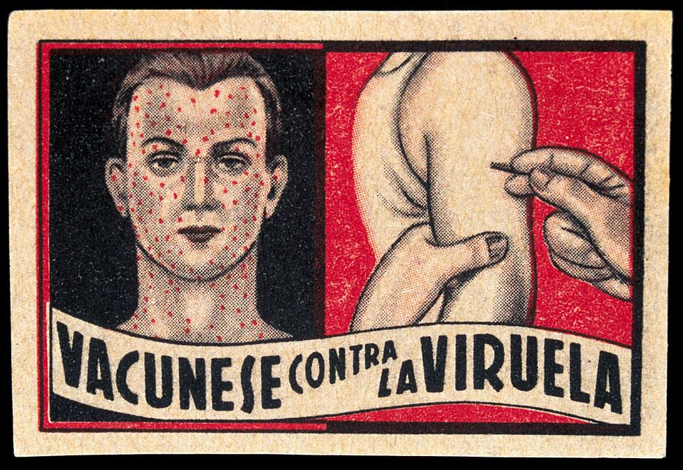 Afiche de campaña contra la viruela