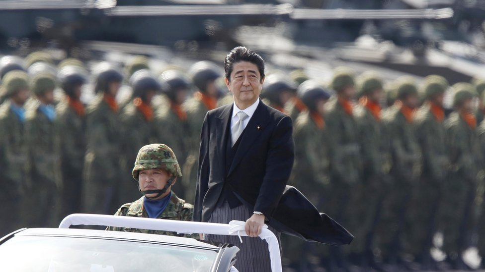 Prime Minister Shinzo Abe's government has approved record levels of defence spending